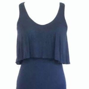 Navy Blue Maxi Dress - Small